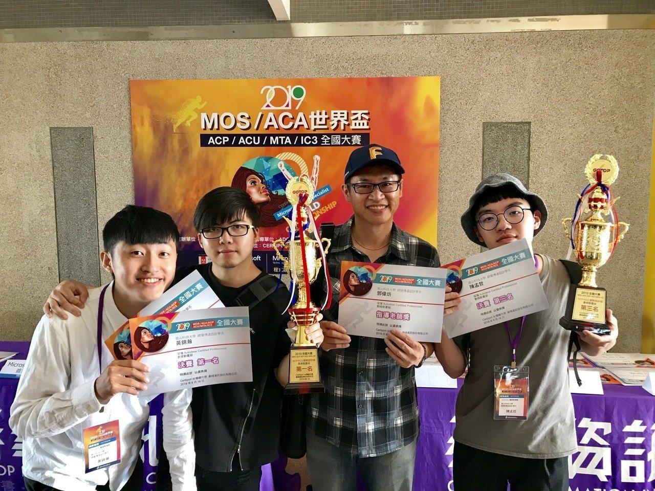 崑山科大視傳系師生贏得大專組數媒動畫全國第一。圖/學生提供