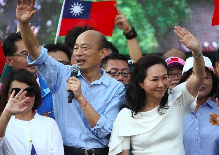 高雄市長韓國瑜雲林大造勢,提到若當選,一國兩制絕對不會在台灣實現,曾經批評他被中...