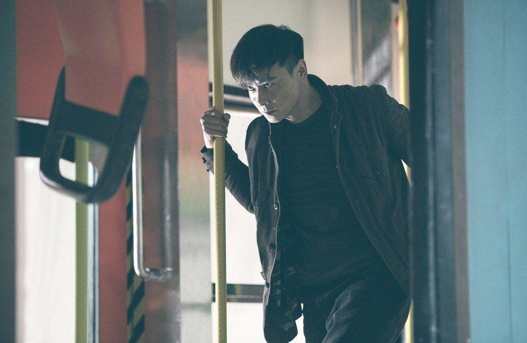 張晉於6月25日來台為電影「九龍不敗」進行三天兩夜的宣傳。圖/華映提供