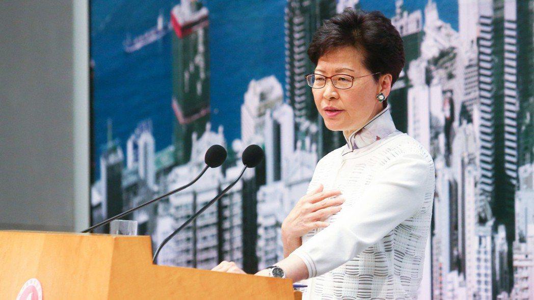 香港特區政府行政長官林鄭月娥。 特派記者王騰毅/攝影