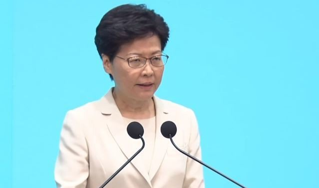 香港特首林鄭月娥。圖/擷取自Now News