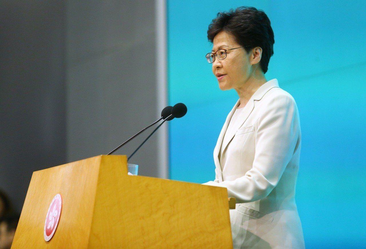 香港行政長官林鄭月娥下午舉行記者會,聲明針對處理修例工作不足,要負好大責任,並向...