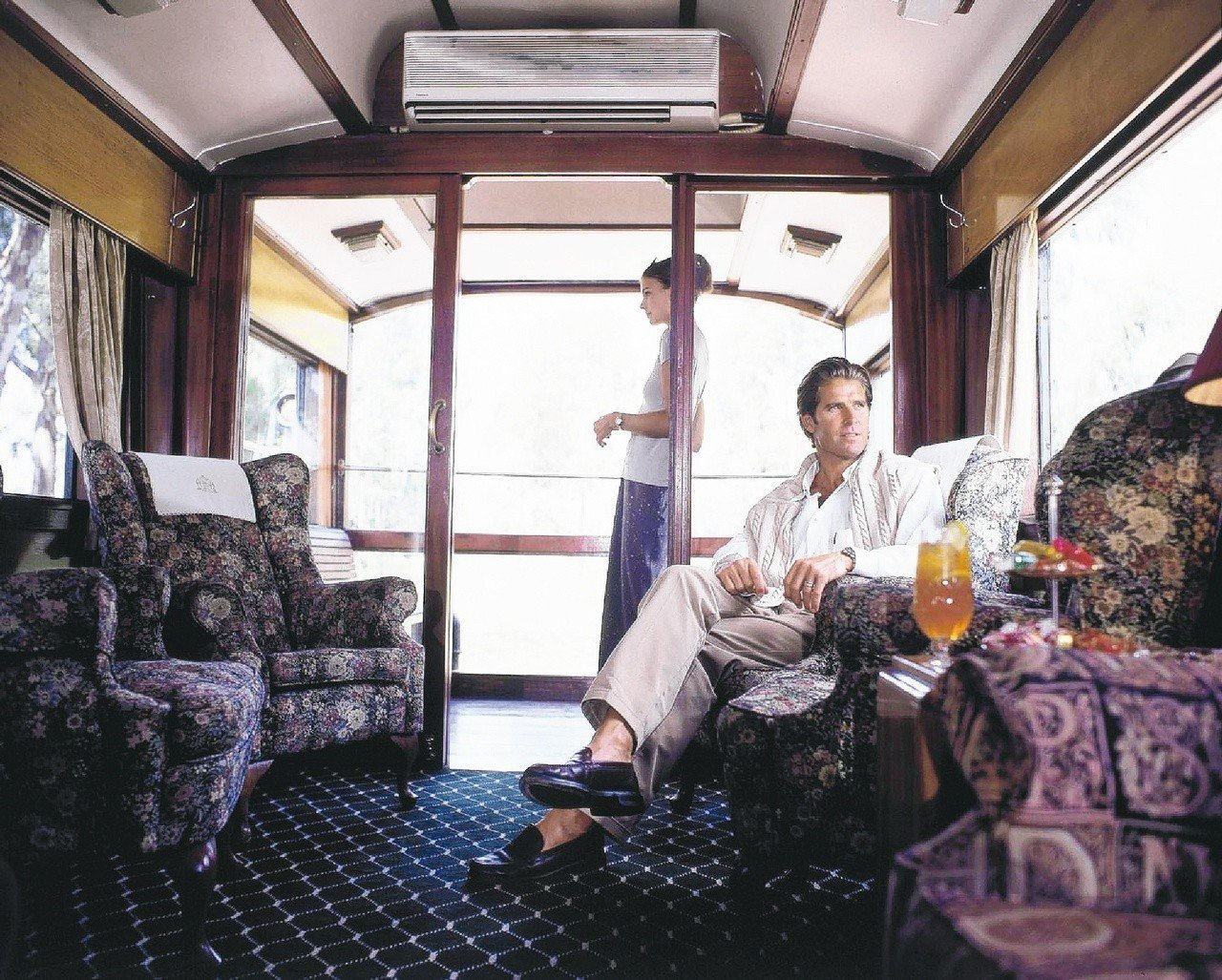 「非洲之傲」豪華列車主打維多利亞式的華貴。圖/Rovos Rail提供