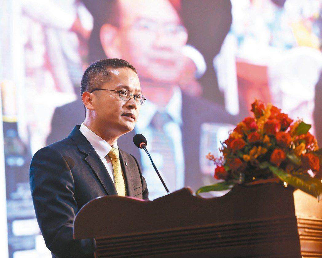 新任中國銀行台北分行行長陳長江。 中新社/提供