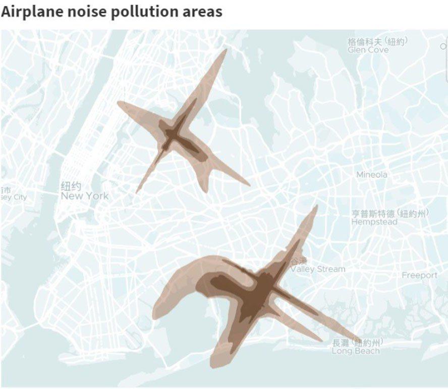 房地產網站Localize.city公布紐約市及其周邊前20名噪音社區。(取自官...
