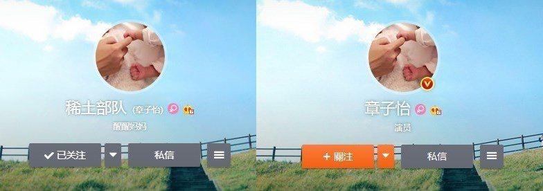 章子怡將微博名稱改為「本名」。 圖/擷自章子怡微博
