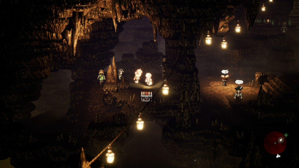 遊戲採用的是 2D 平面俯瞰的固定視角,無法自由旋轉地形,因此在找路和寶箱的時候...