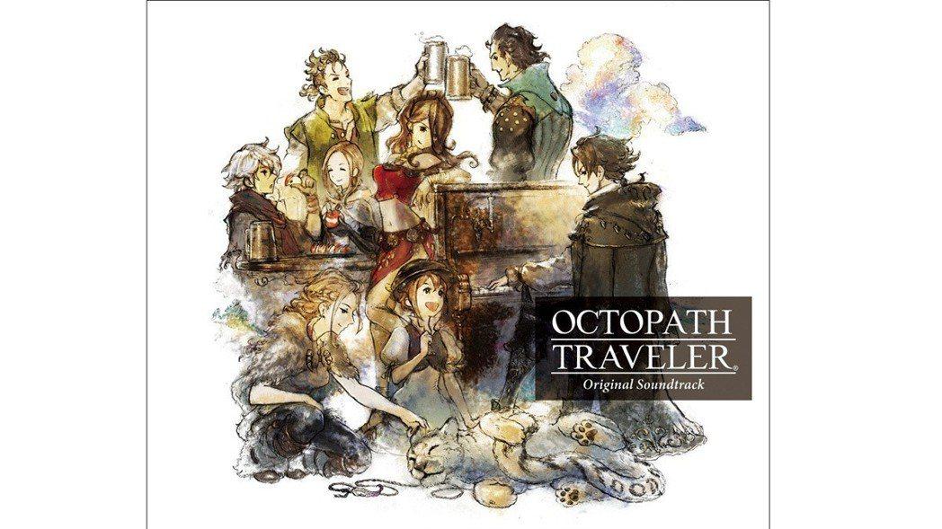 《歧路旅人》的原聲音樂 CD 封面圖,本作的音樂出自於西木康智這位作曲家之手,該...