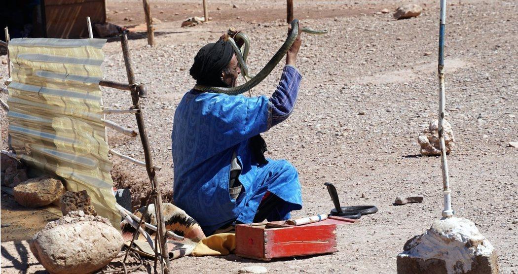 不只是馬拉喀什,其他城市只要是觀光景點,都能看見雜耍藝人的身影。