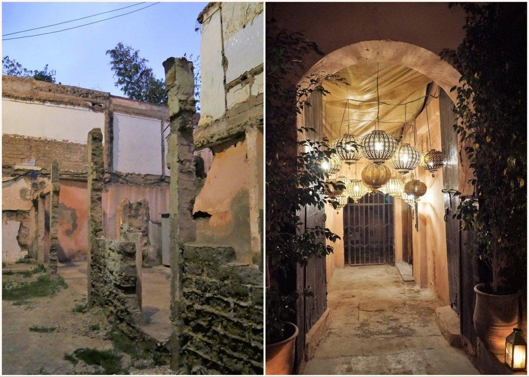 經過荒涼殘破的小巷後,柳暗花明,餐廳就藏在小巷內。