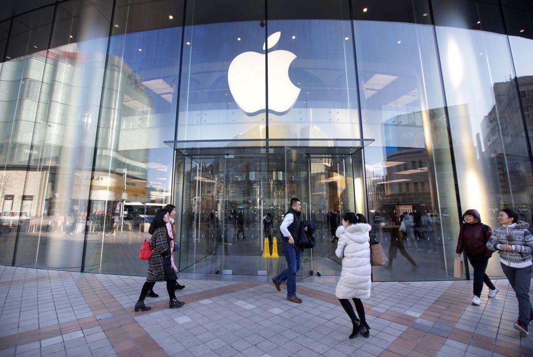 蘋果北京門市。 (路透)