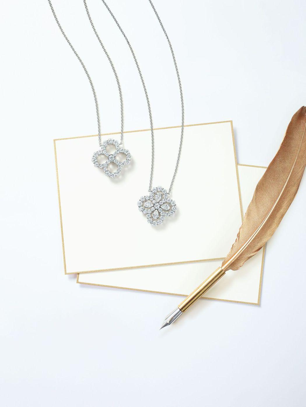 HARRY WINSTON全新鑽石心環Diamond Loop系列。  圖/麗晶...