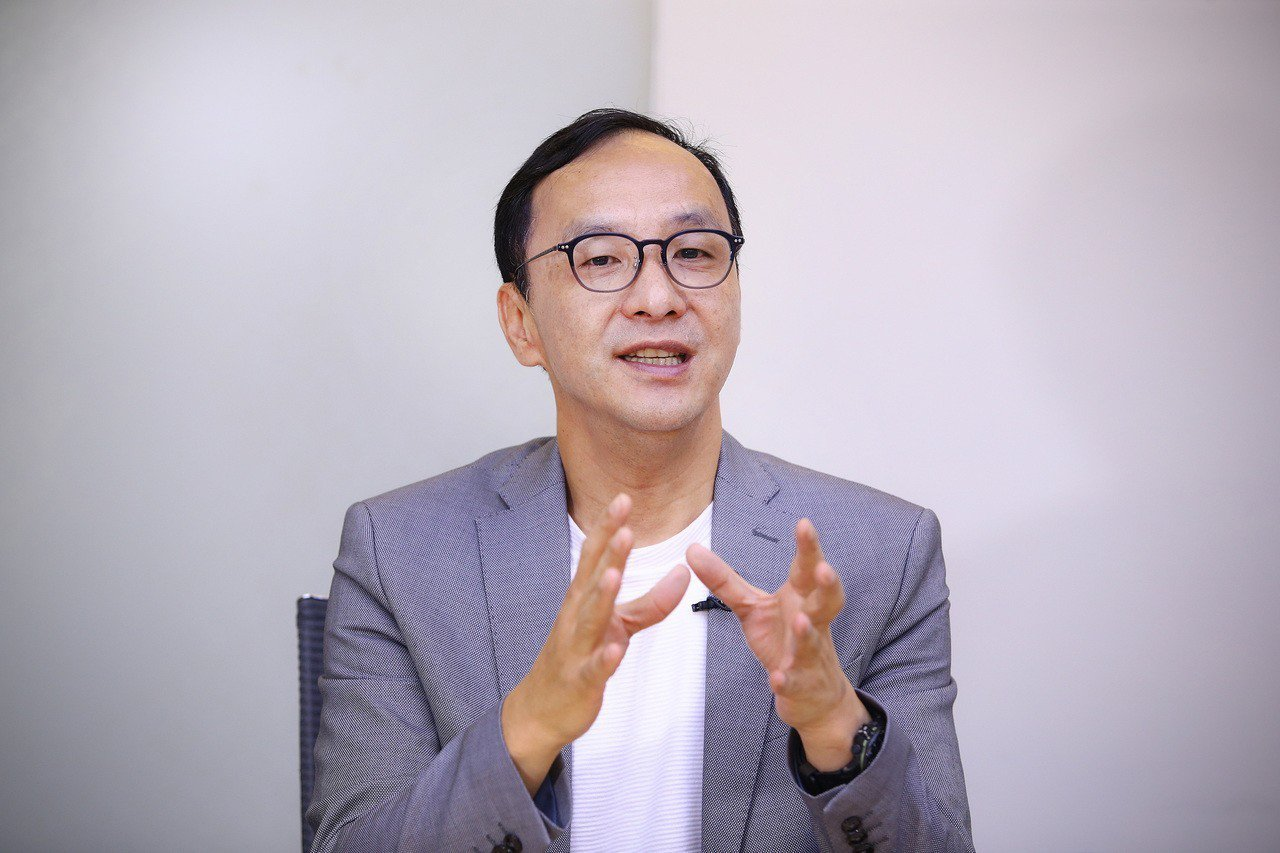 國民黨總統初選參選人朱立倫。記者陳柏亨/攝影