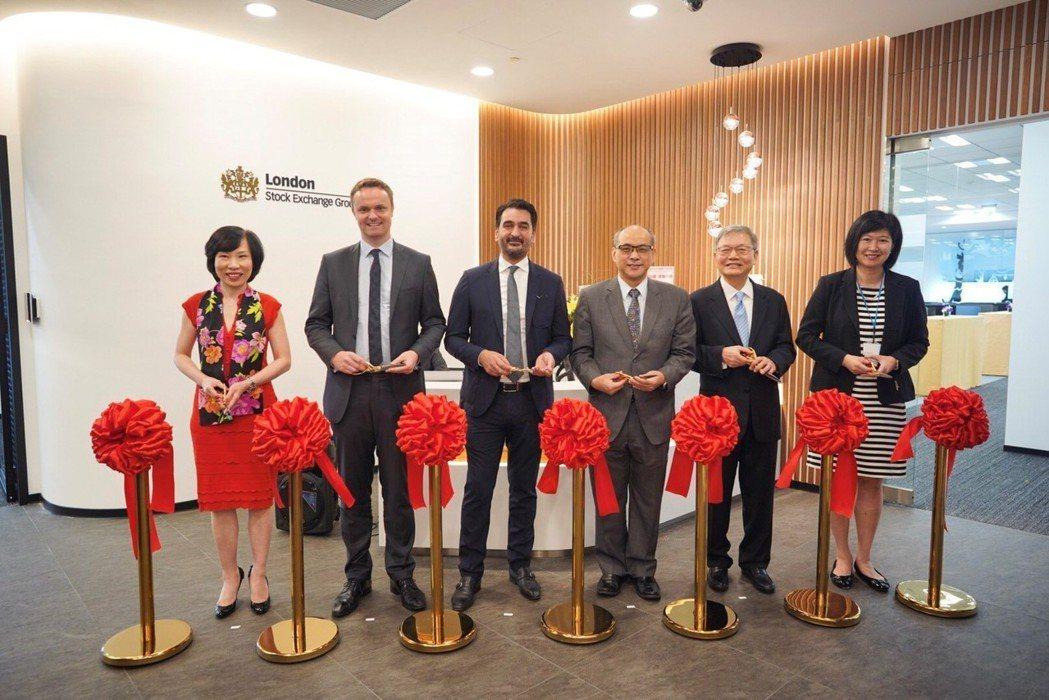 倫敦交易所成立台北辦公室,富時羅素亞太區主管Jessie Pak(左一)、倫交所...