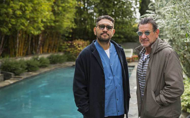Mr. Leight創辦者為(左)Garrett Leight、Larry Le...