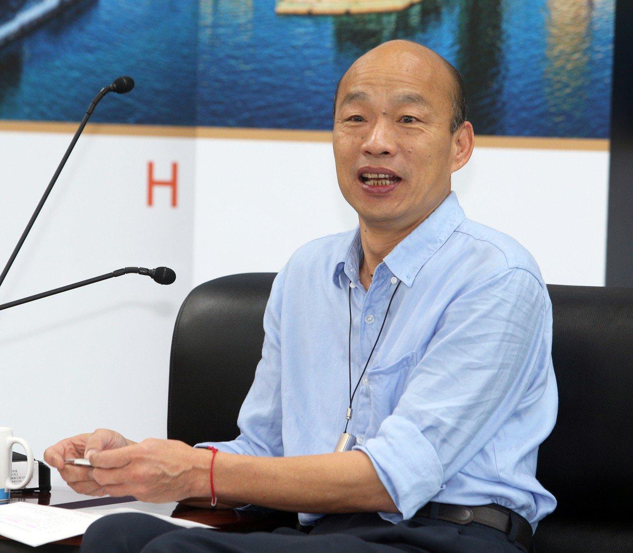 高雄市長韓國瑜向香港海鮮業聯合總會成員表示,已指示海洋局等局處,「不出貨就算了,...