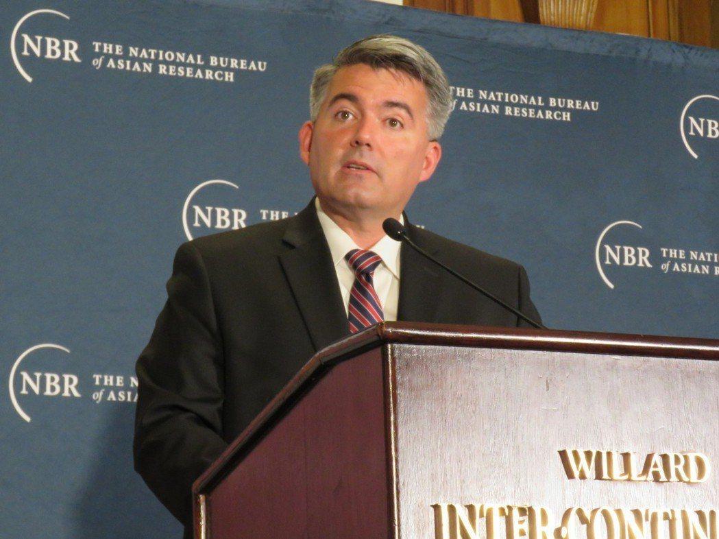 美國參議院外委會亞太小組主席賈德納。華盛頓記者張加/攝影
