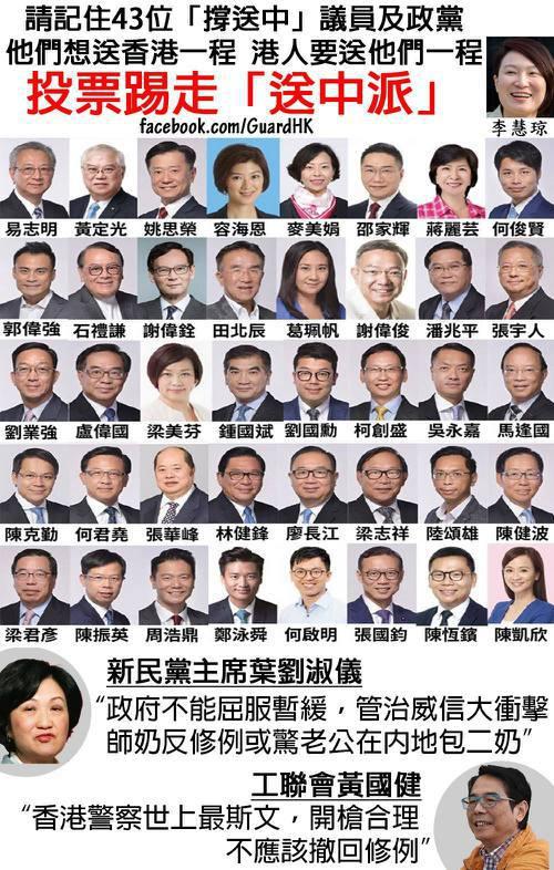 「十萬人反對建制派(保皇黨)」 圖/取自臉書