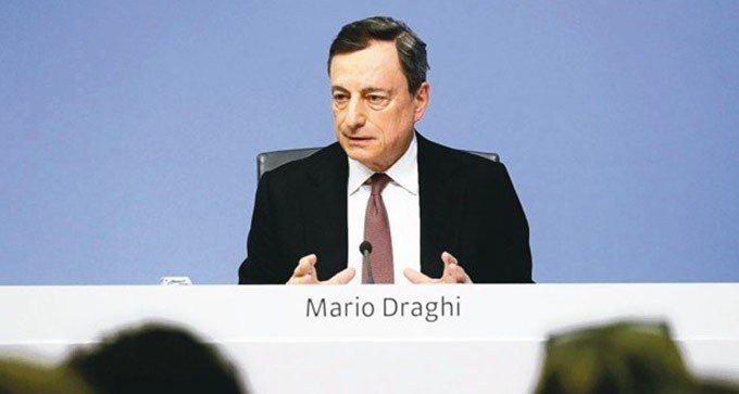 歐洲中央銀行總裁德拉基。