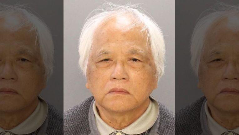 在費城連續犯下性攻擊的71歲越華裔男子石洋(警方提供)。