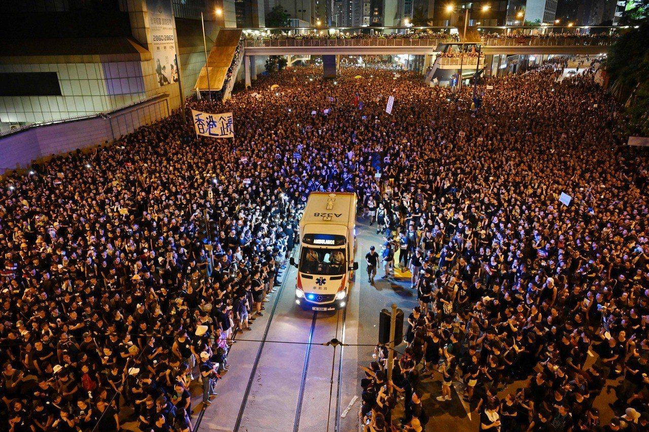 「世界級香港人」網民細數遊行5大催淚點 法新社