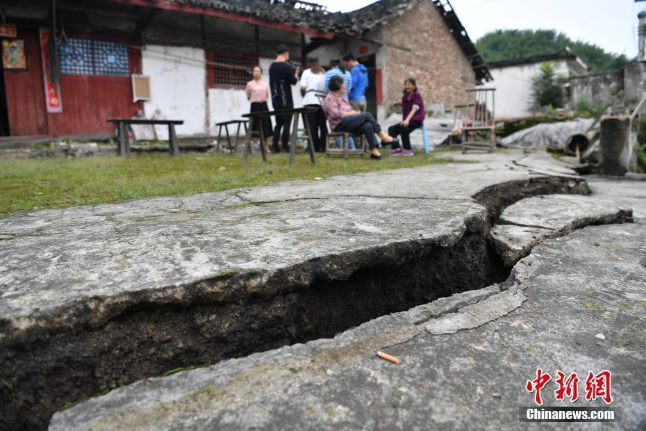 四川宜賓17日發生6級地震,其後出現超過60次餘震,其中有兩次達5級以上。 (取...
