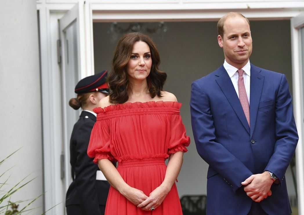 英國威廉王子與凱特王妃。 美聯社