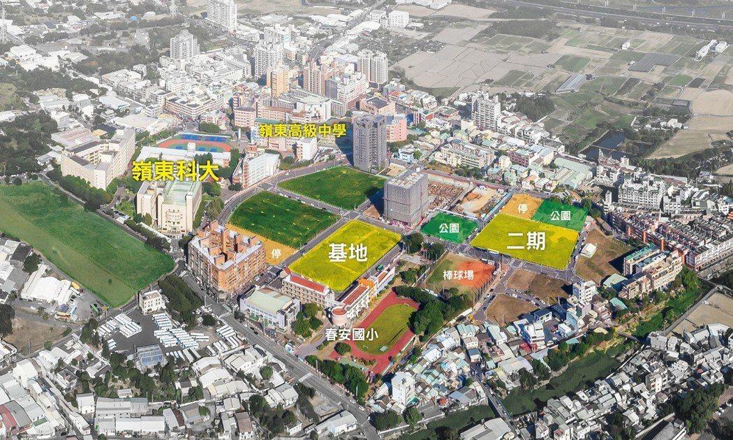 「菁科城」建功重劃區空拍。圖片提供:豐邑建設
