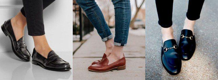 樂福鞋舒適耐穿又好搭配,適合懶得穿高跟鞋的上班族。圖/ pinterest,女子...