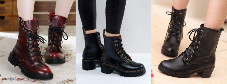 一雙馬丁靴能讓妳看起來更帥氣有型,還可以當雨靴穿。圖/ pinterest,女子...