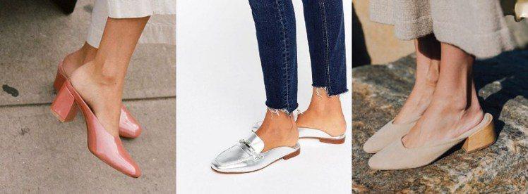 兼具正式與休閒的穆勒鞋適合不同場合,還曾是瑪麗蓮.夢露最愛的鞋款。圖/ pint...