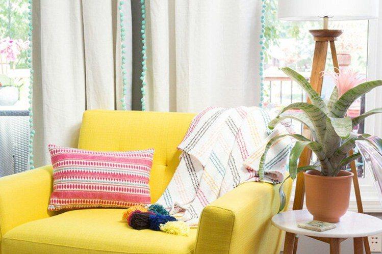 帶點民族風的圖騰元素,能瞬間將房子的氣氛活絡起來。圖/ 日本樂天,女子學提供