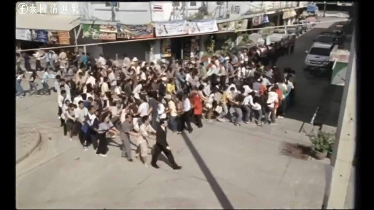 領導無方,群眾亂成一團。(泰國清邁象fb圖片)