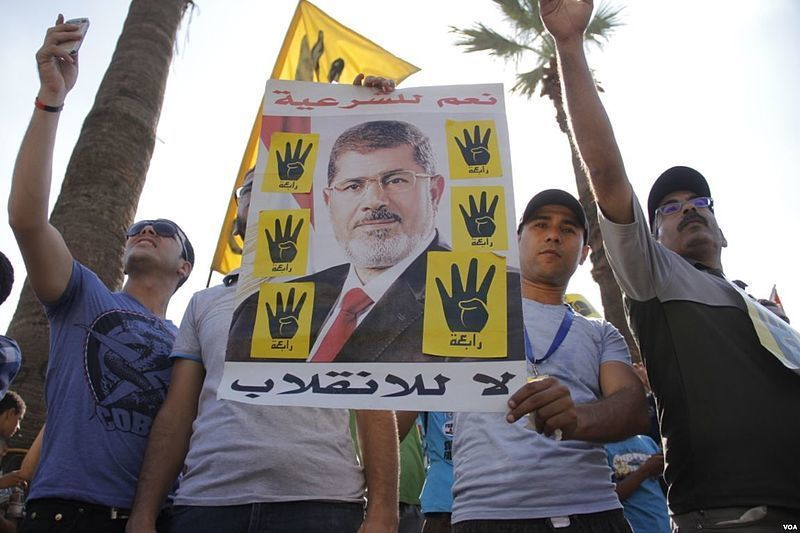 埃及首任民選總統穆西出庭暴斃,造成全世界反彈。(Photo from wikim...