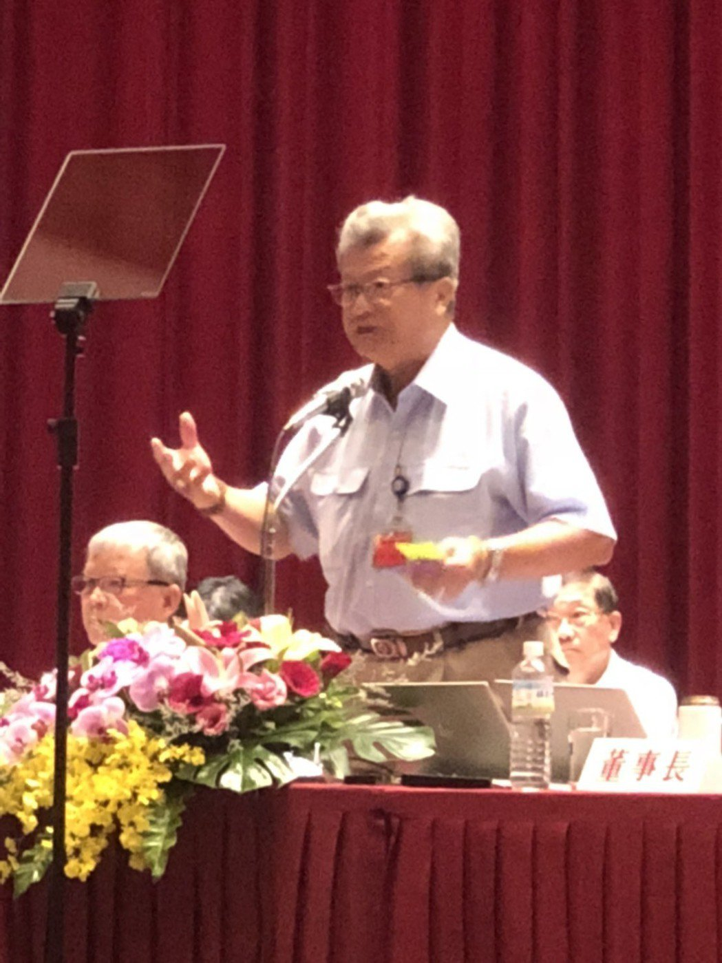 中鋼股東會,董事長翁朝棟表明,六大布局提升競爭力。記者林政鋒/攝影