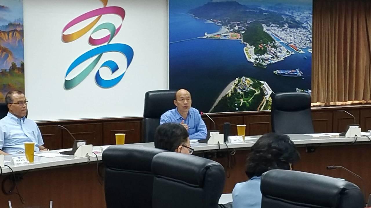 高市長韓國瑜與高雄市大學校長上午在市府舉行第13次「高雄的大學‧高雄的智庫」會議...