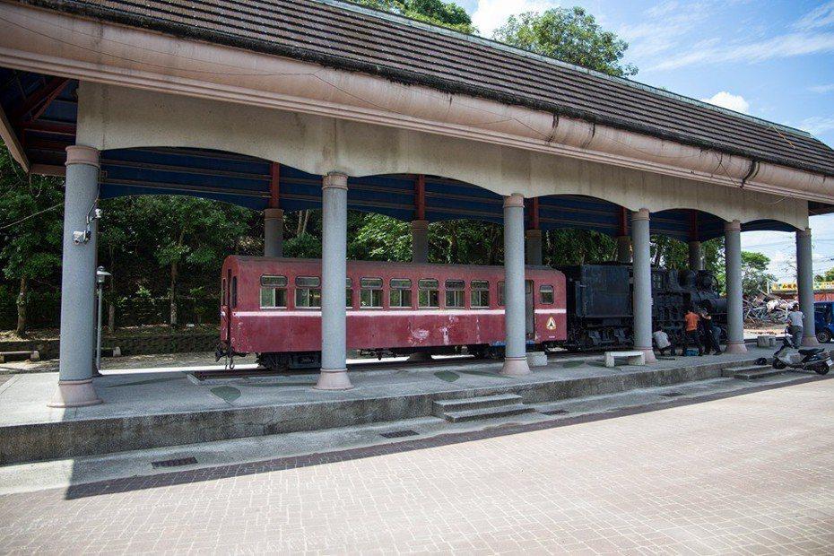 32號阿里山林鐵蒸汽火車頭目前陳列在竹崎公園,重新整理後,未來將在林鐵竹崎車站展示。圖/賴國華提供
