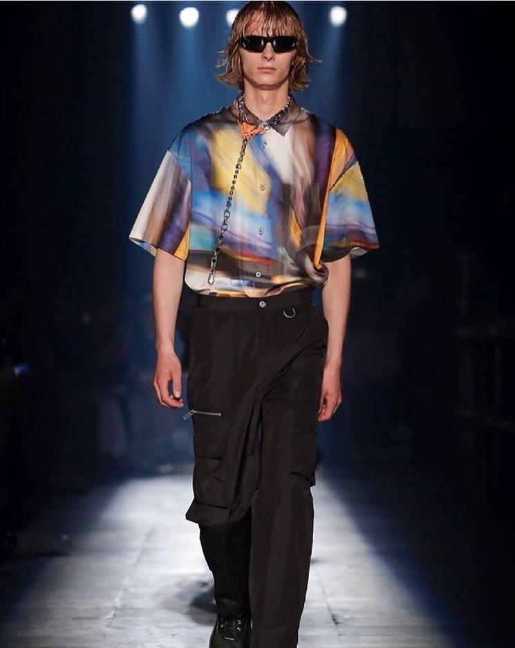 Heron Preston本季男裝將活力四射的紐約街頭搬到巴黎。圖/取自IG