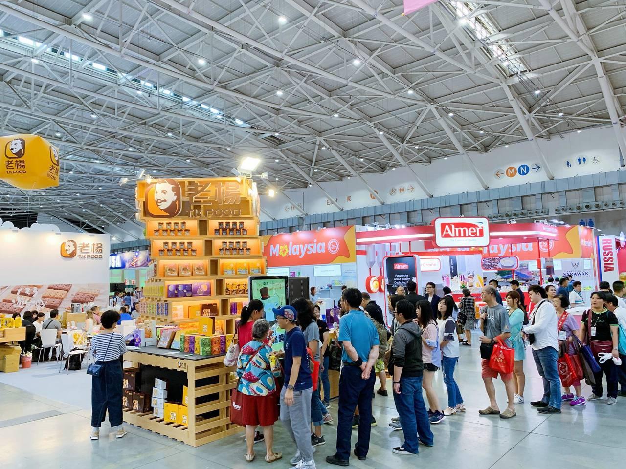 「2019台北國際食品五展」開幕首日人潮較往年稀少。記者徐力剛/攝影