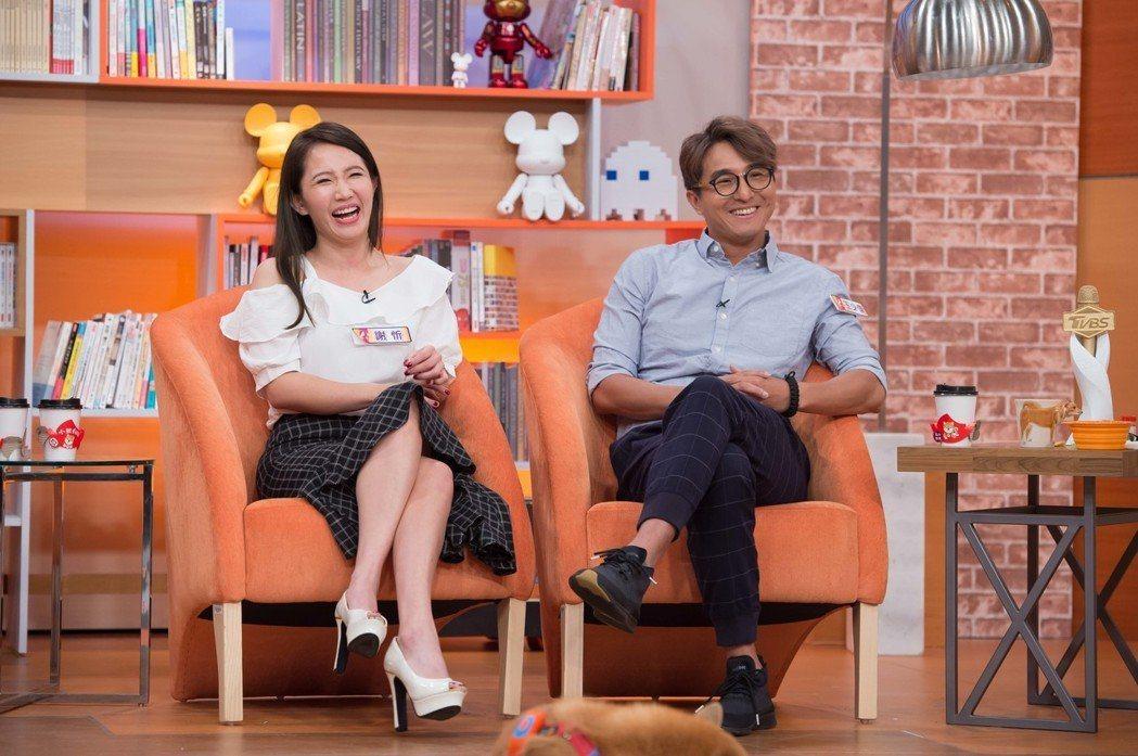 王少偉(左)和謝忻的關係一直令人好奇,但他說僅止於好友關係。圖/TVBS提供