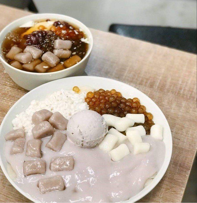 「阿爸の芋圓」芋見泥綜合蔗片冰是招牌。IG @bonbon_foodie_lif...