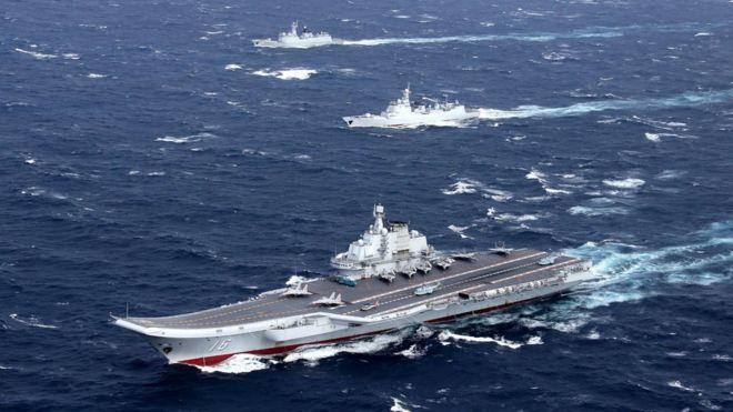 遼寧號航艦。圖/中共海軍