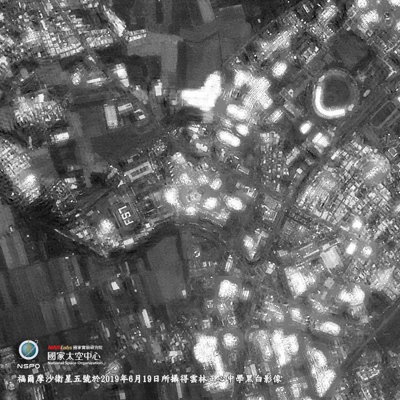 雲林正心中學挑戰太空空拍成功。圖/國家太空中心提供