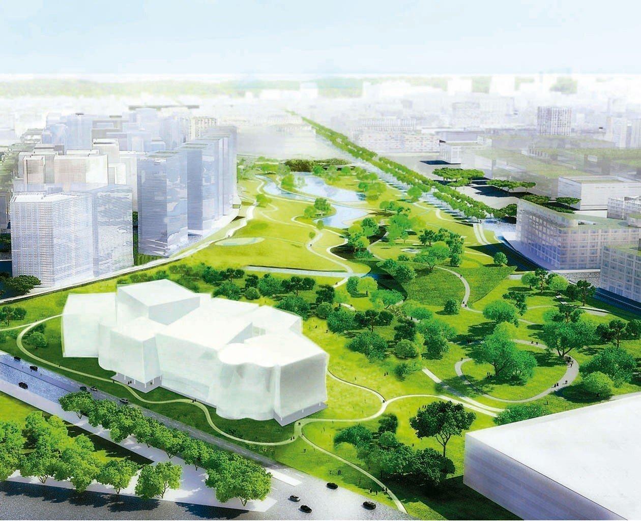 「台中綠美圖」終於決標,8棟方盒子建築物,在水湳經貿園區的公園裡打造美術館、圖書...