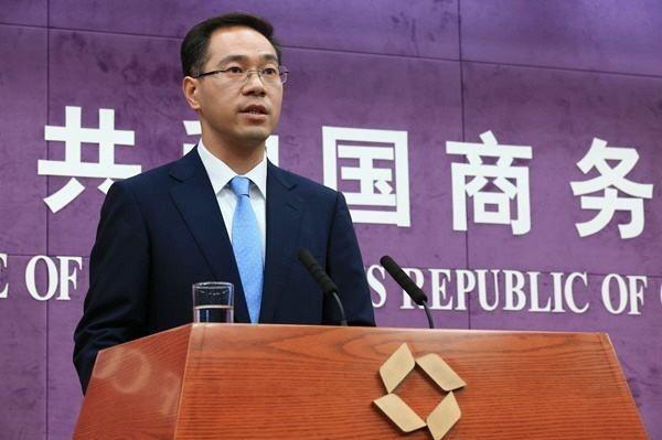 中共商務部發言人高峰。 中共商務部官網