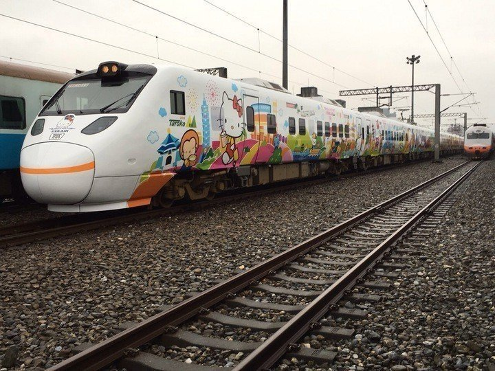 鐵道迷注意,台鐵Kitty彩繪列車最後一列在7月1日。 圖/聯合報系資料照片