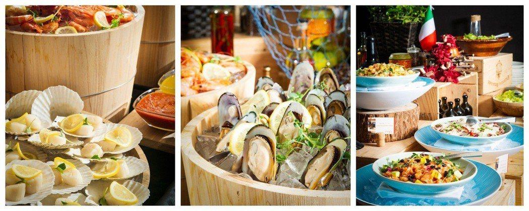 香格里台北遠東馬可波羅餐廳週日早午餐盡享綜合海鮮。