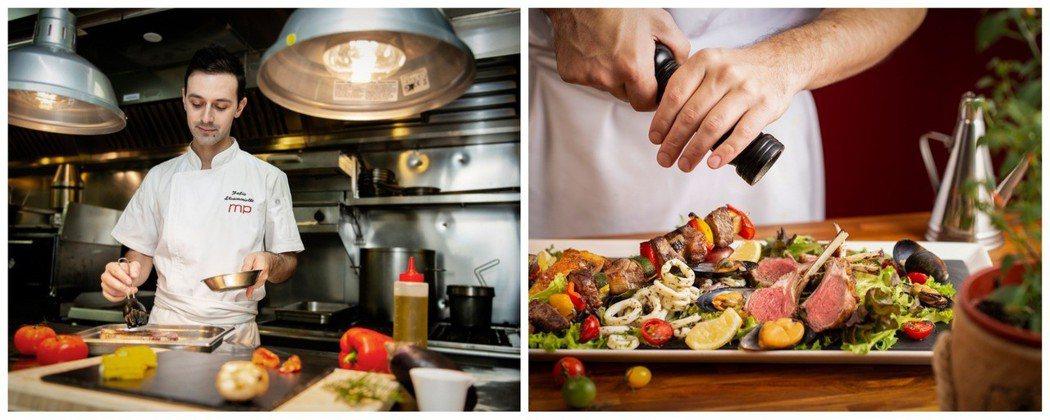香格里拉台北遠東馬可波羅餐廳-托斯卡尼的烹飪方式製作排餐。
