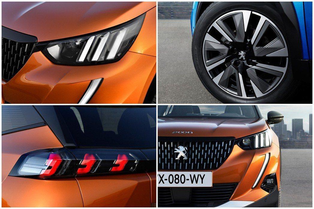 第二代Peugeot 2008配置了與新世代208相同的三組直列式LED獅爪燈條...