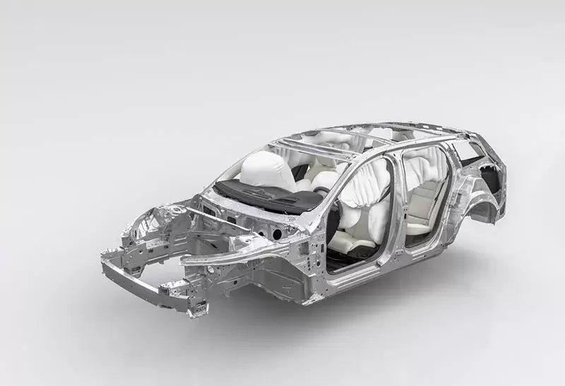 安全氣囊對於緩衝人體的撞擊相當重要。 摘自Volvo